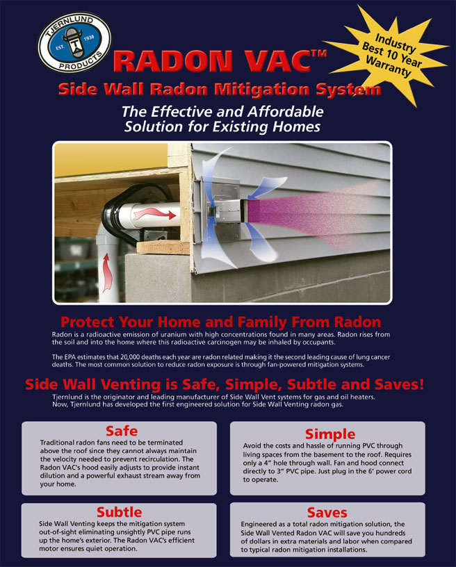Radon Vac Side Wall Radon Mitigation System